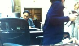 Wanda Spence playing a staffer on Kevin Spacey's House of Cards.