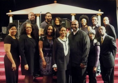Wanda Spence (Front-Second Left) & Cast of A Change Is Gonna Come